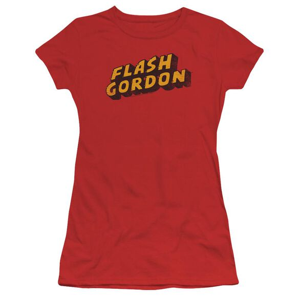 Flash Gordon Logo Short Sleeve Junior Sheer T-Shirt