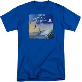 Zz Top Tejas Short Sleeve Adult Tall Royal T-Shirt