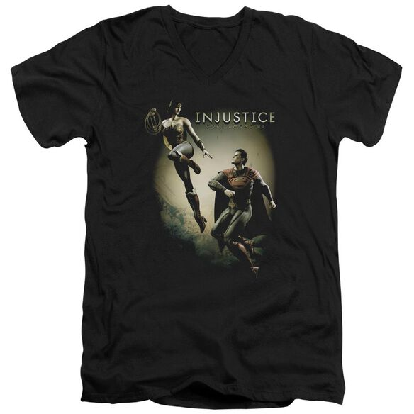 Injustice Gods Among Us Battle Of The Gods Short Sleeve Adult V Neck T-Shirt