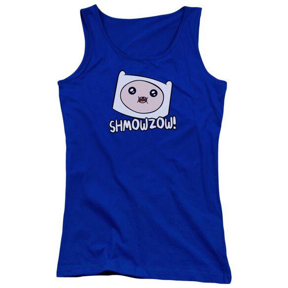 Adventure Time Shmowzow Juniors Tank Top Royal