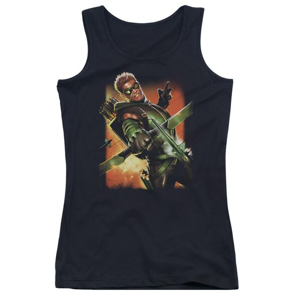 Jla Green Arrow #1 Juniors Tank Top