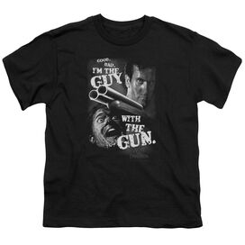 ARMY OF DARKNESS GUY WITH THE GUN - S/S YOUTH 18/1 - BLACK T-Shirt