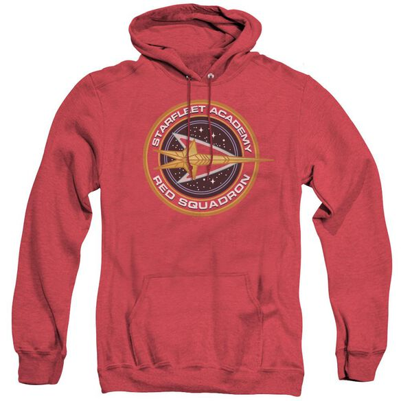 Star Trek Red Squadron - Adult Heather Hoodie - Red