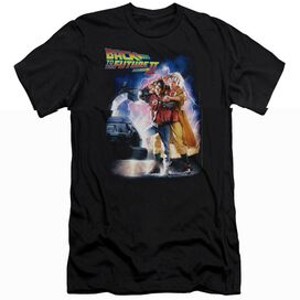 BACK TO THE FUTURE II POSTER - S/S ADULT 30/1 - BLACK - SM - BLACK T-Shirt