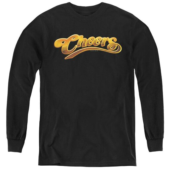 Cheers Cheers Logo - Youth Long Sleeve Tee - Black