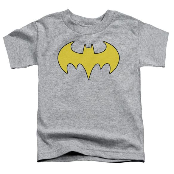 Dc Bat Girl Logo Short Sleeve Toddler Tee Athletic Heather Sm T-Shirt