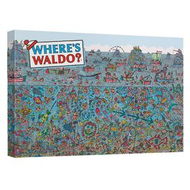 Wheres Waldo Sea Me Canvas Wall Art With Back Board