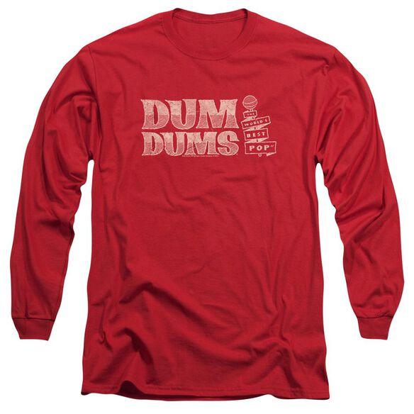 Dum Dums Worlds Best Long Sleeve Adult T-Shirt