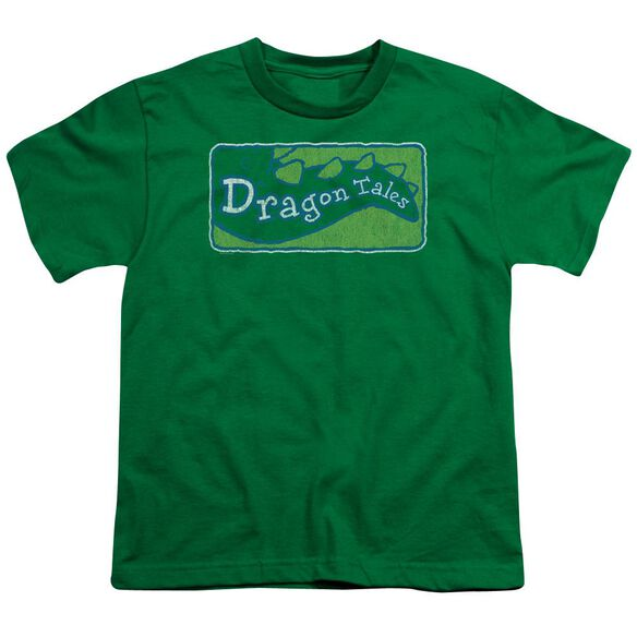 Dragon Tales Logo Distressed Short Sleeve Youth Kelly T-Shirt