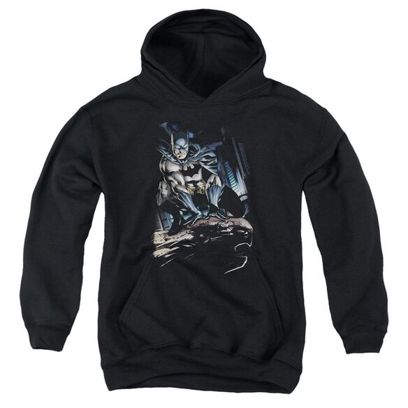 Batman Perched Youth Pull Over Hoodie