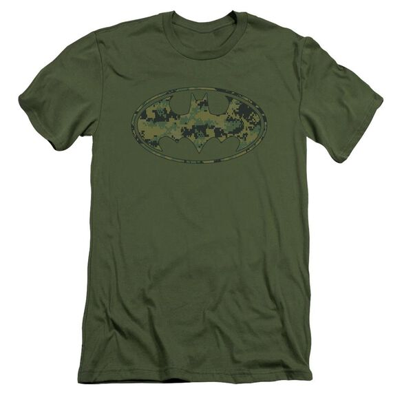Batman Marine Camo Shield Short Sleeve Adult Military T-Shirt