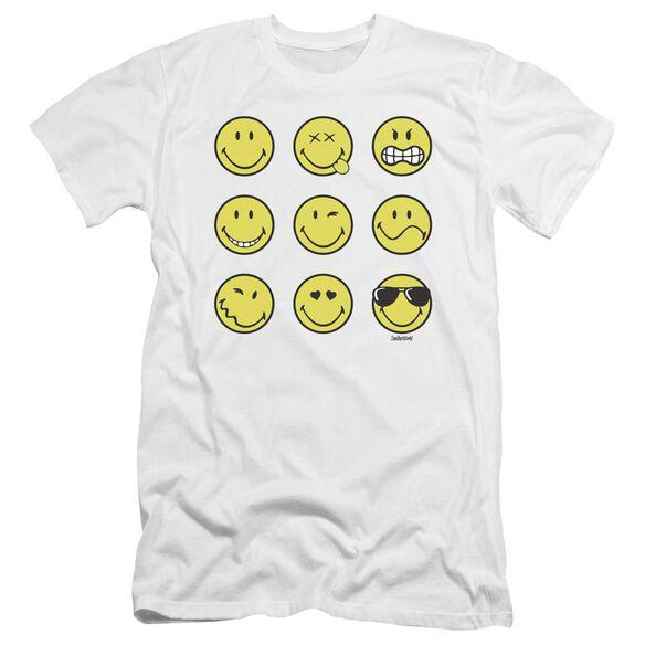 Smiley World Nine Faces Premuim Canvas Adult Slim Fit