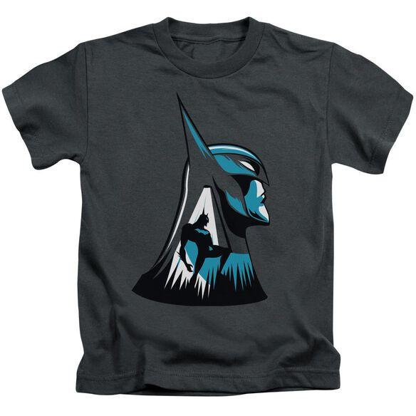 Beware The Batman Head Short Sleeve Juvenile Charcoal T-Shirt