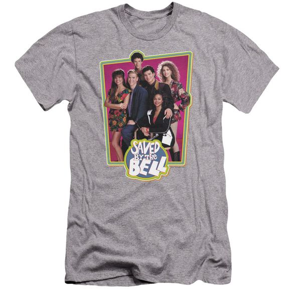 Saved By The Bell Saved Cast Premuim Canvas Adult Slim Fit Athletic
