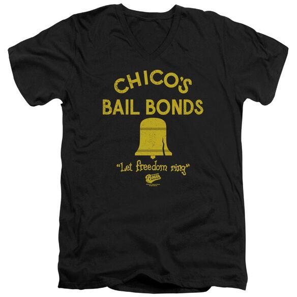 Bad News Bears Chicos Bail Bonds Short Sleeve Adult V Neck T-Shirt