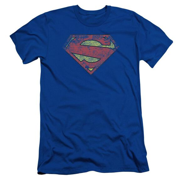 Superman New 52 Shield Short Sleeve Adult Royal T-Shirt