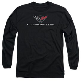 Chevrolet Corvette Modern Emblem Long Sleeve Adult T-Shirt