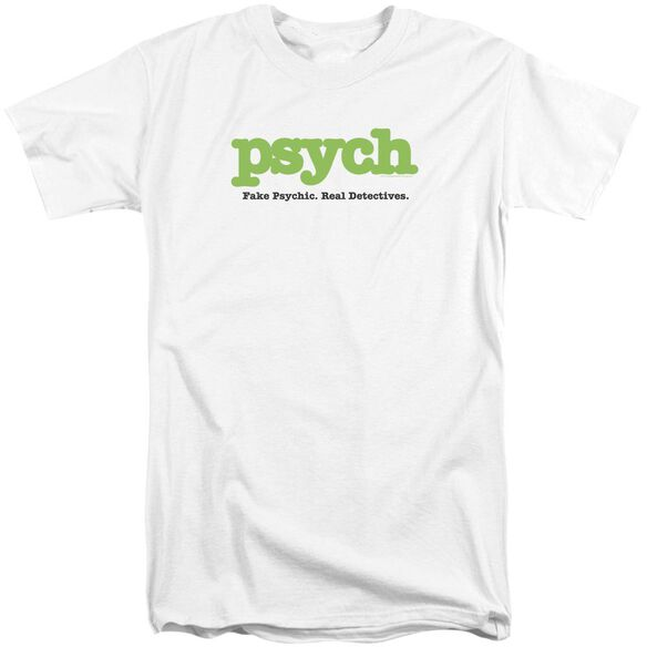 Psych Title Short Sleeve Adult Tall T-Shirt