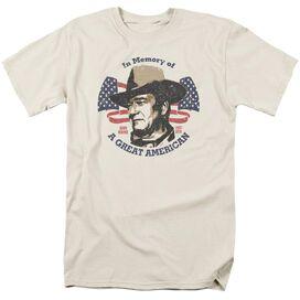John Wayne Great American Short Sleeve Adult Cream T-Shirt
