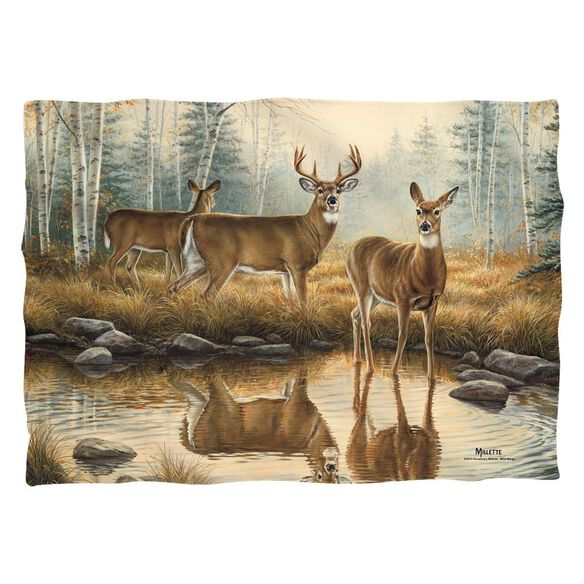 Wild Wings Autumn Reflections 2 Pillow Case White
