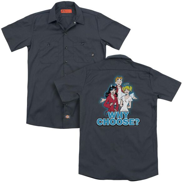 Archie Comics Why Choose (Back Print) Adult Work Shirt