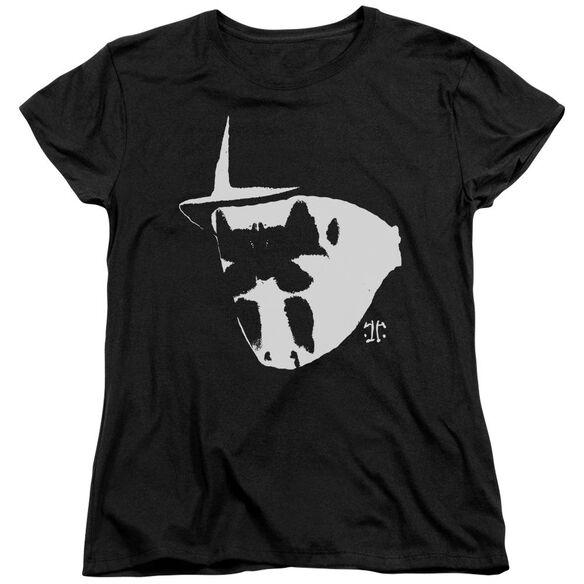 Watchmen Mask And Symbol Short Sleeve Womens Tee T-Shirt
