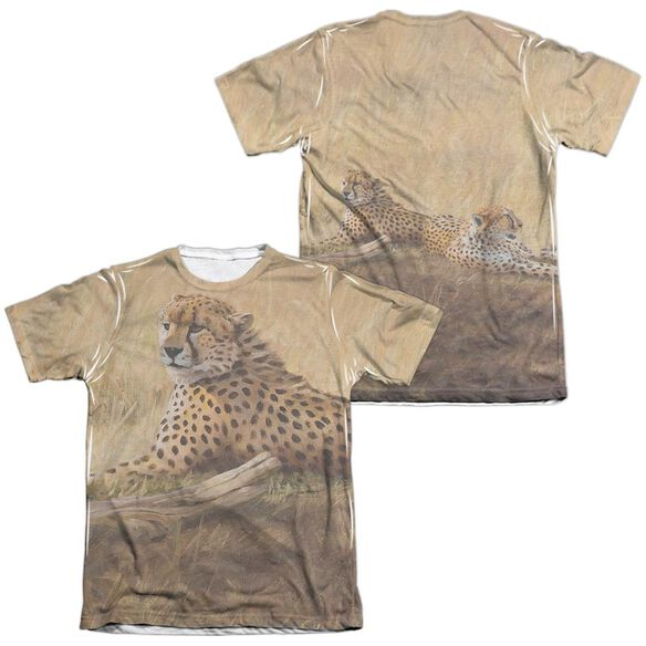Wild Wings African Cats (Front Back Print) Adult Poly Cotton Short Sleeve Tee T-Shirt