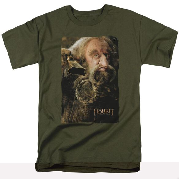 The Hobbit Oin Short Sleeve Adult Military Green T-Shirt