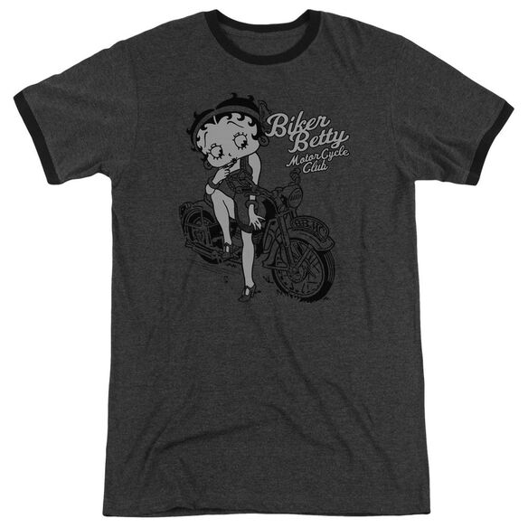 Betty Boop Bbmc Adult Heather Ringer Charcoal