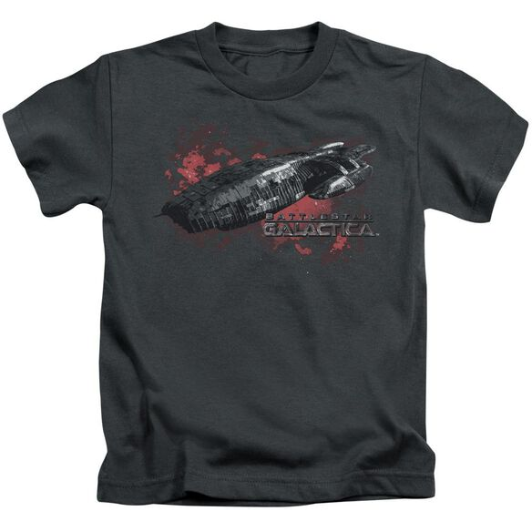 Bsg Galactica Short Sleeve Juvenile Charcoal T-Shirt