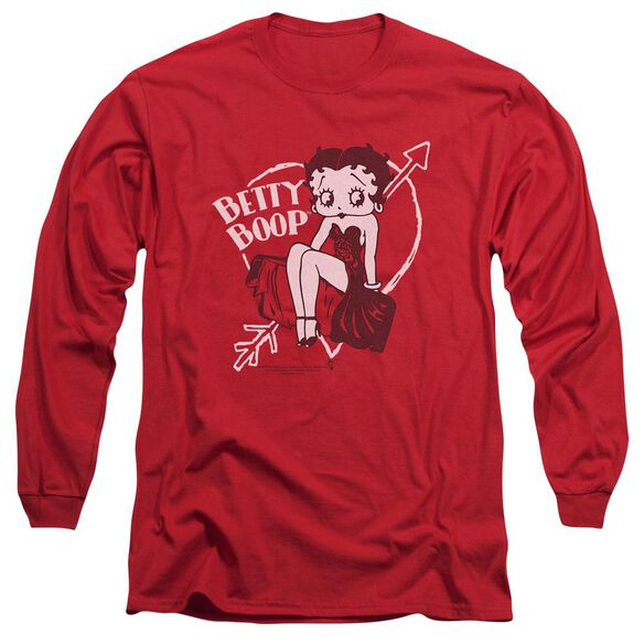Betty Boop Lover Girl Long Sleeve Adult T-Shirt
