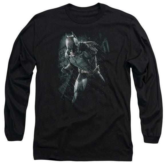 Dark Knight Rises Batman Rain Long Sleeve Adult T-Shirt