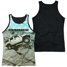 Hummer Trek Adult Poly Tank Top Black Back