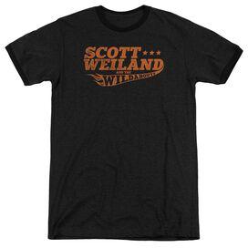 Scott Weiland Logo Adult Heather Ringer