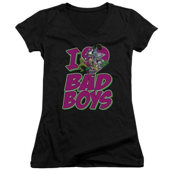 Dc I Heart Bad Boys Junior V Neck T-Shirt