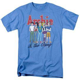 Archie Comics And The Gang Short Sleeve Adult Carolina Blue T-Shirt