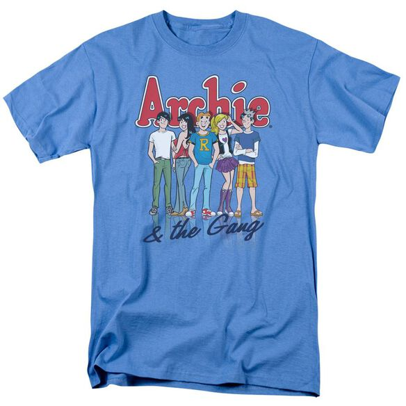 Archie Comics And The Gang Short Sleeve Adult Carolina Blue T-Shirt