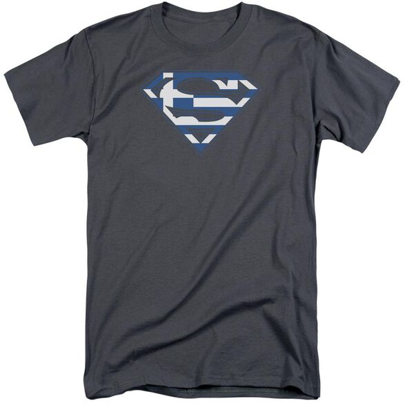 Superman Greek Shield Short Sleeve Adult Tall T-Shirt