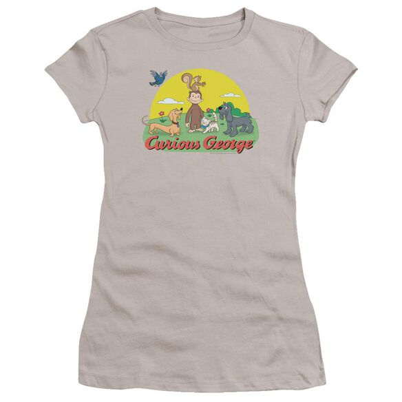 Curious George Sunny Friends Premium Bella Junior Sheer Jersey