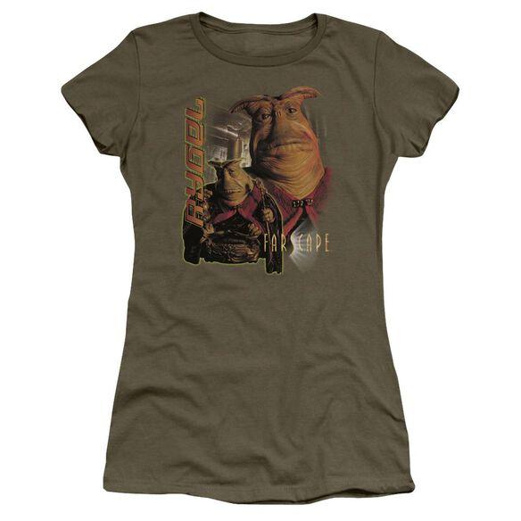 Farscape Rygel Short Sleeve Junior Sheer Military T-Shirt