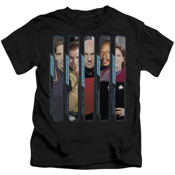 Star Trek The Captains Short Sleeve Juvenile Black Md T-Shirt