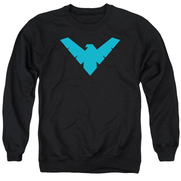 Batman Nightwing Symbol - Adult Crewneck Sweatshirt - Black