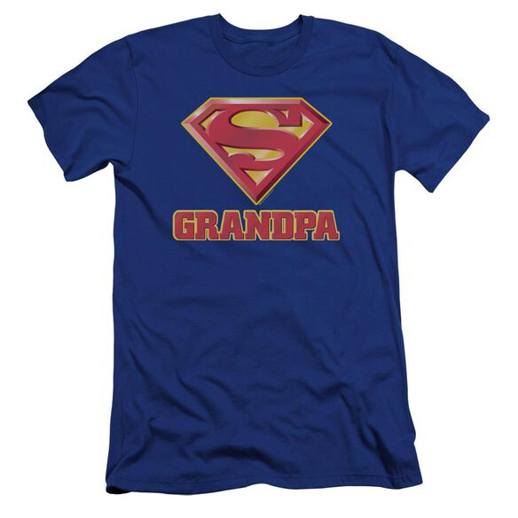 Superman Super Grandpa Premuim Canvas Adult Slim Fit Royal