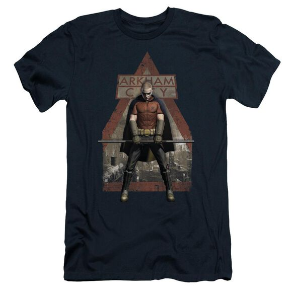 Arkham City Arkham Robin Short Sleeve Adult T-Shirt