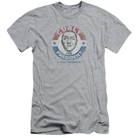 Three Stooges Curly For President Short Sleeve Adult Athletic T-Shirt