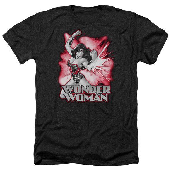 Jla Wonder Woman Red & Gray Adult Heather