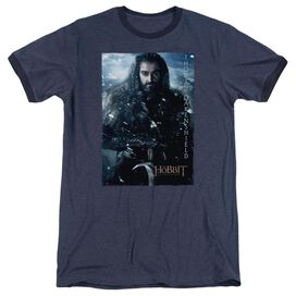 The Hobbit Thorin Poster Adult Heather Ringer Navy