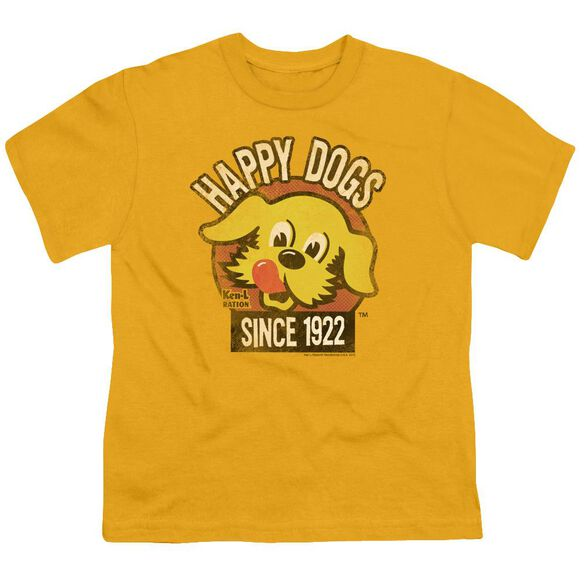 Ken L Ration Happy Dogs Short Sleeve Youth T-Shirt