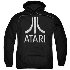 Atari Rough Logo Adult Pull Over Hoodie