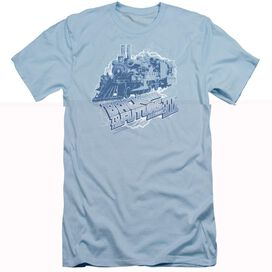 BACK TO THE FUTURE III TIME TRAIN - S/S ADULT 30/1 - LIGHT BLUE - 2X - LIGHT BLUE T-Shirt